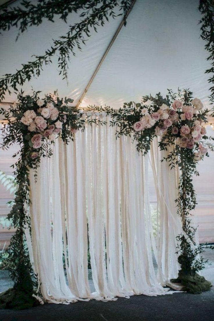 Minimalist Wedding Ceremony Backdrop For Modest Wedding