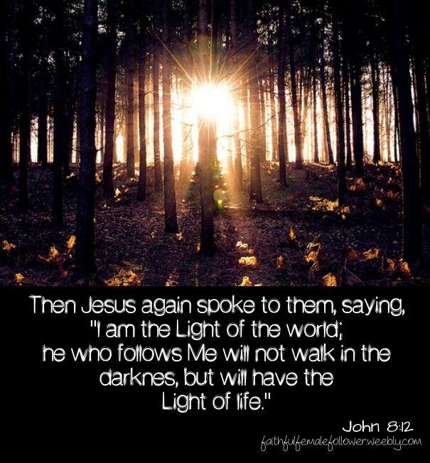 #Light of the world #bible verse #Jesus #Savior Devotional #inspiring #uplifting quotes #daily devotional #living life #life