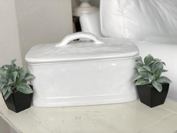 Blank Ceramic Bread Box By Kathy Diep Farm Charm Decor Ceramic