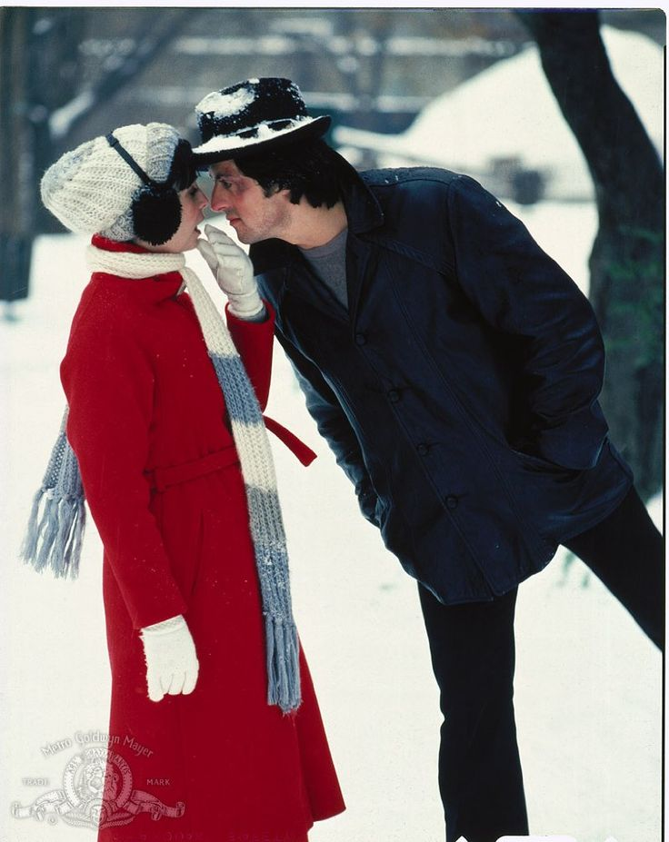 "Still of Sylvester Stallone and Talia Shire in ""Rocky II"" (1979)"