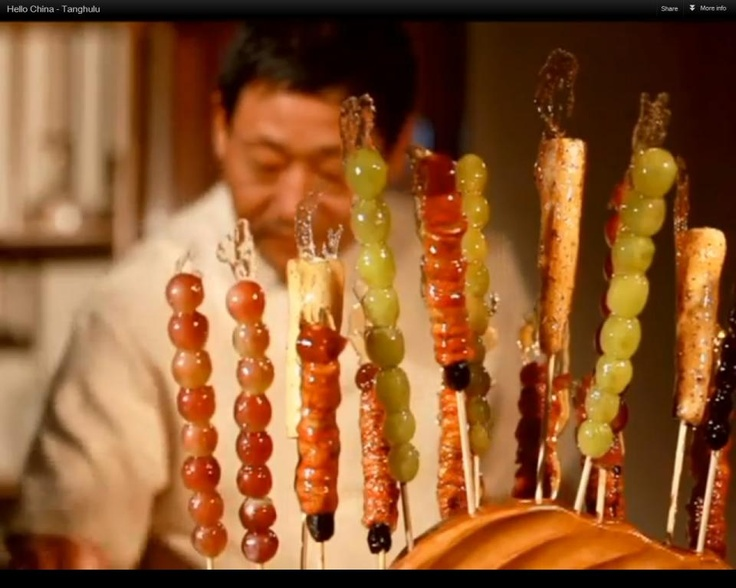 I missed it. But I can never finish 1 by myself. Originally from Northern China, tanghulu is a favourite winter snack. (Source: CRI )