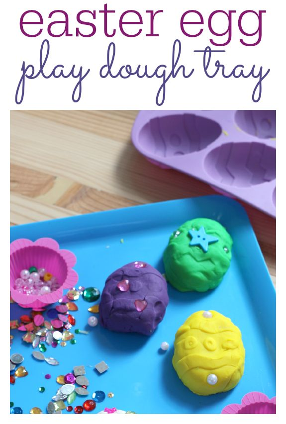 Easter play dough idea with a great lesson for parents about how to go with the flow when it comes to doing activities with your kids.