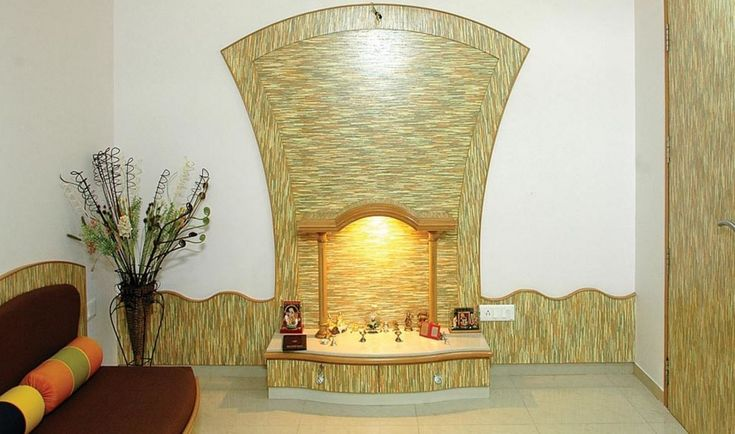 Pooja Room Designs in Living Room