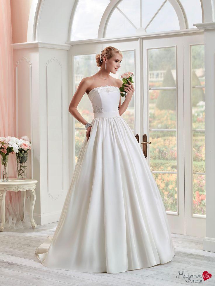 Robe de mariée Mlle Della, robe de mariée bustier, robe de mariage jupe volume…