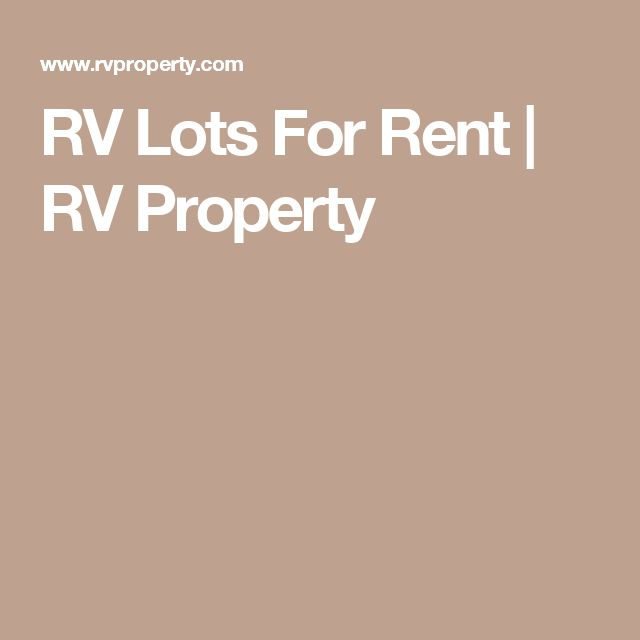 RV Lots For Rent | RV Property