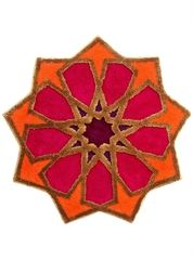 Badematte SHEREZAD Grund orange-rot