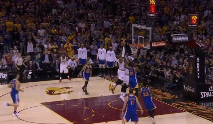 LeBron James threw himself an alley-oop to help lift the Cavs over the Warriors in Game 4 of The Finals