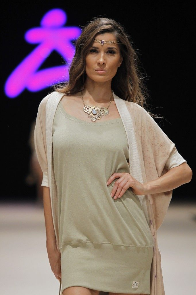 Etikology - Pasarela Adlib 2016 - Nanou Couture Organic fashion, natural dye  #ecodye #slowfashion #handmade #ibiza Organic Dress and kimono