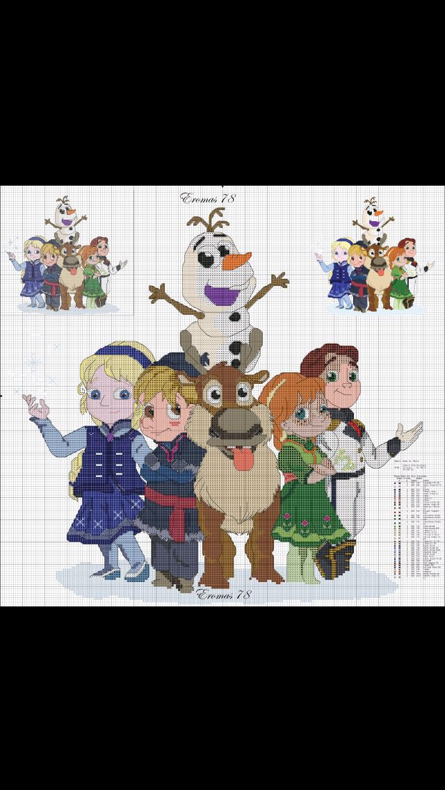 Picture only - Disney Frozen cross stitch pattern