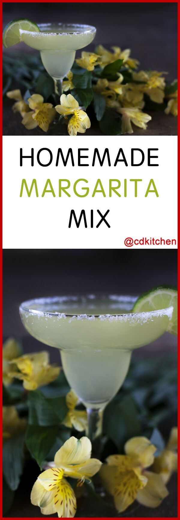 Homemade Margarita Mix - Recipe is made with limes, triple sec, frozen lemonade concentrate, frozen limeade concentrate, frozen mix, water, tequila | CDKitchen.com
