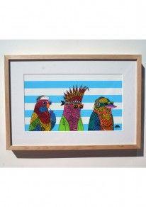 Three-Rad-Birds-Original-Painting-by-Mulga