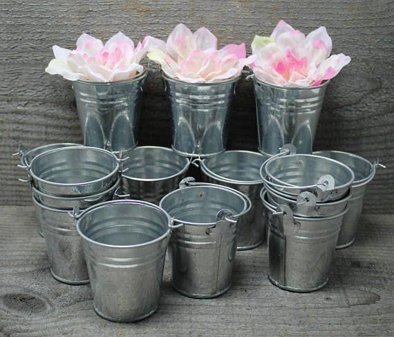 Mini Galvanized Steel Buckets Pails with Handles Generic Set