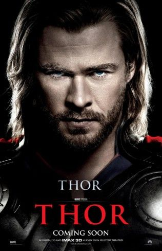 Thor Chris Hemsworth Face Posters at AllPosters.com
