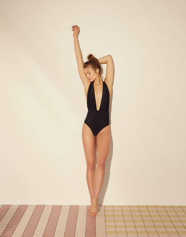 V-neck swimsuit - Beachwear - Accessories - Woman - PULL&BEAR Netherlands
