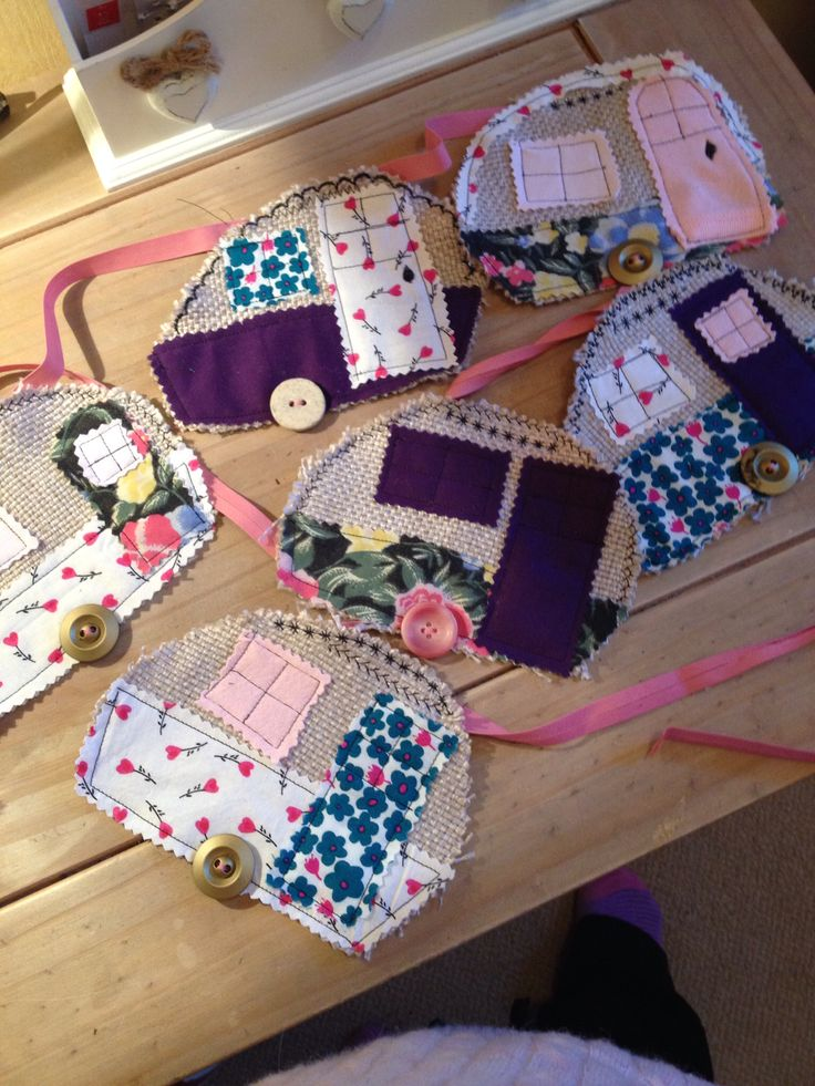 Bunting for our caravan