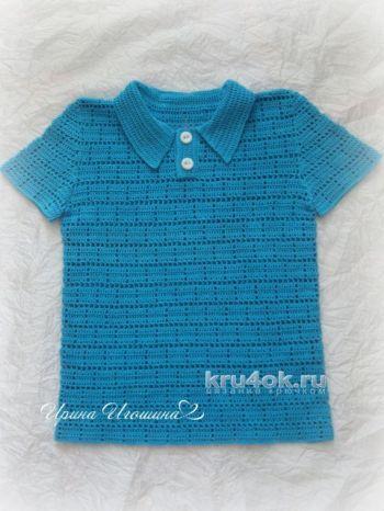 Polo for boys hook. Jobs Irina Igoshin. Crochet.