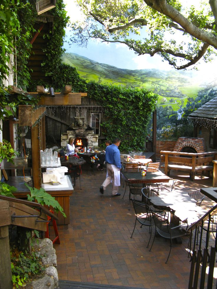 Patio At The Hog S Breath Inn Restaurant In Carmel California