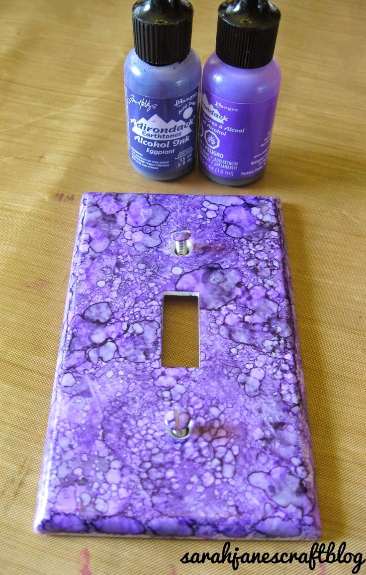 Arts and crafts switch plate covers - Sarah Jane S Craft Blog Alcohol Ink Switch Plates