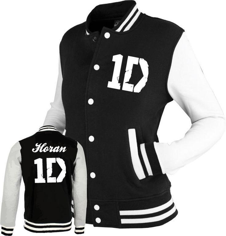 ONE DIRECTION inspired Varsity Jacket Top 1D tour black/white. S, M, L & XL | eBay
