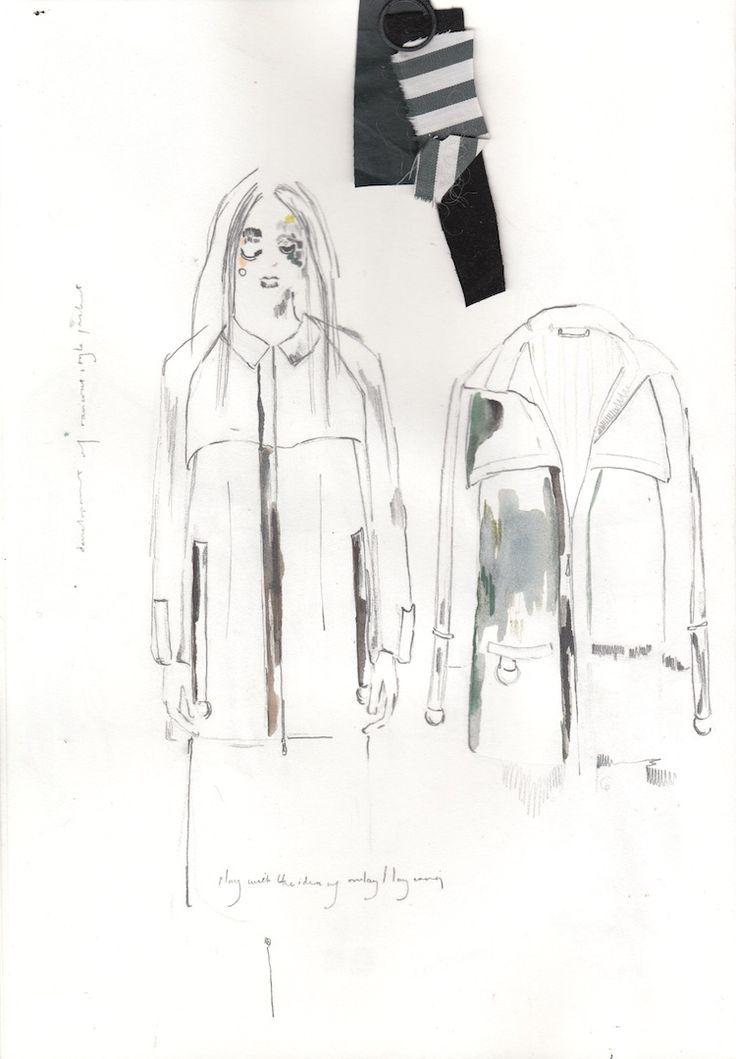 Fashion Sketchbook - fashion design sketches; creative process; fashion portfolio // Alexandra Baldwin