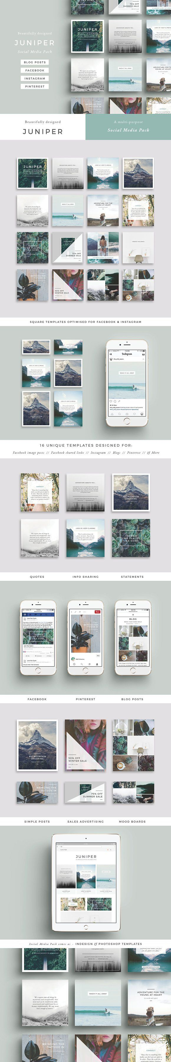 J U N I P E R Social Media Pack by 46&2 Collective on @creativemarket