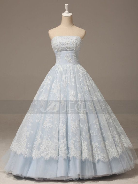 Hey, I found this really awesome Etsy listing at http://www.etsy.com/listing/173108860/a-line-baby-blue-lace-wedding-gown