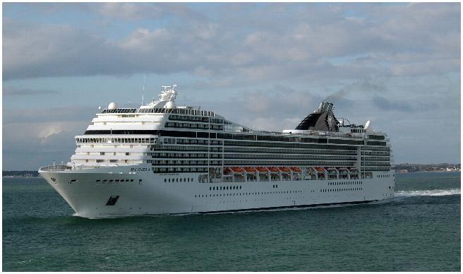 MSC POESIA. Ιδιοκτησία: MSC Crociere - Italy. (Subsidiary of the Swiss MSC Container Lines). Διαχείρηση: MSC Cruises. Παρθενικό ταξίδι στις 19/04/2008. 92.627 GT ~ 293,80 μ.μ. ~ 32,20 μ.πλάτος ~ 12 κατ/τα ~ 2.550 ~ 3.223 επ. ~ 987 ατ.πλ.