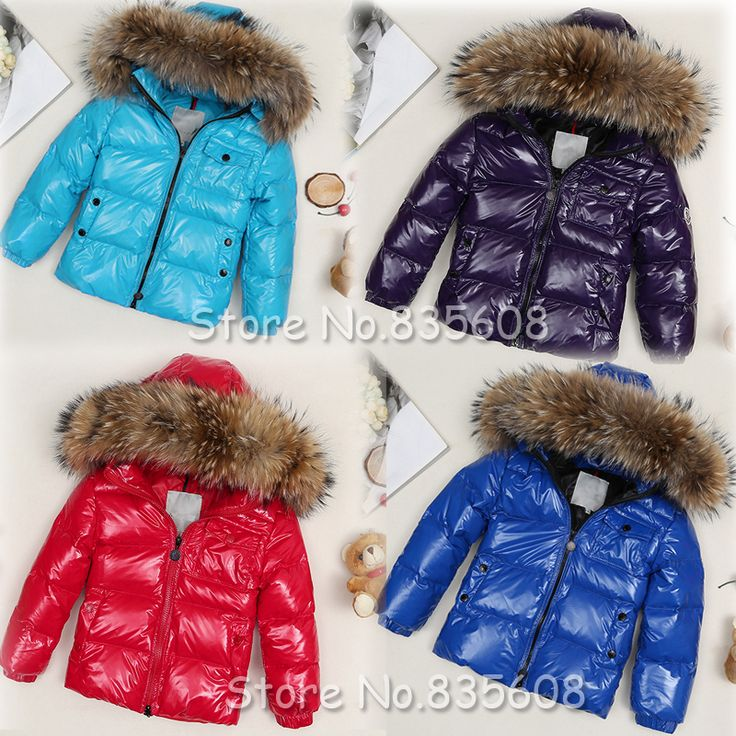 Boys girls real raccoon fur collar quilted waterproof duck down ... : quilted baby coat - Adamdwight.com
