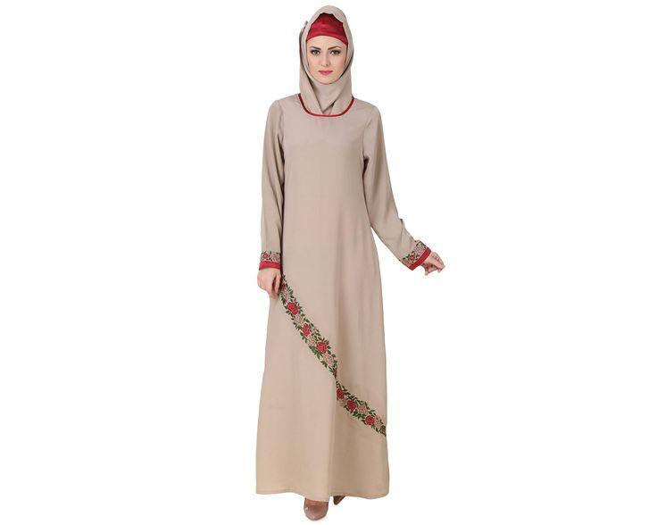 Buy now--> Whatsapp: +91-8826009522 (#Worldwide) MyBatua #Ujala #Crepe #Warm #Grey #Abaya | Available in sizes XS to 7XL, lenth 50 to 66 inches.   Buy link : https://www.mybatua.com/catalogsearch/result/?q=Ujala+Crepe+Warm+Grey+Abaya