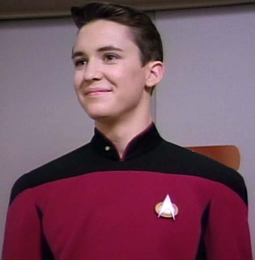 Ensign/Lieutenant Wesley Robert Crusher, (Wil Wheaton); STAR TREK The Next Generation