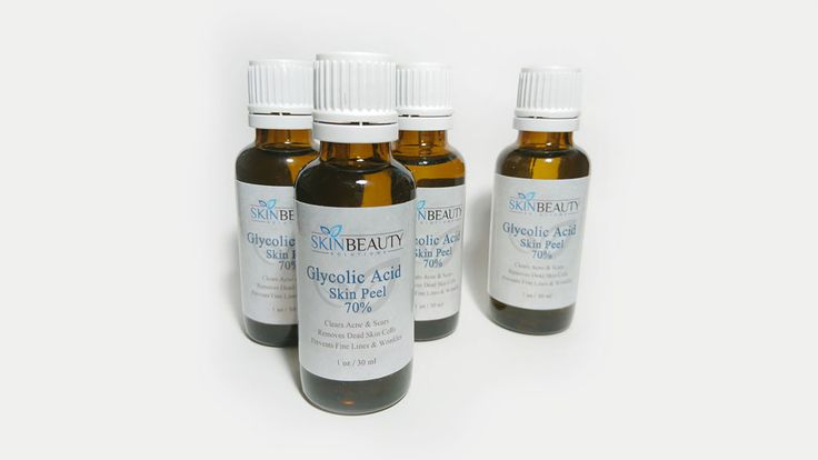 Glycolic Acid 70% Fruit Acid Peel Glycolic Acid 70% 30ml pH 1.9 chemical peel solution. Effective for treating age spots, wrinkles and deep acne scars. Contains enough solution for 15 peels  Sales price: £31.00