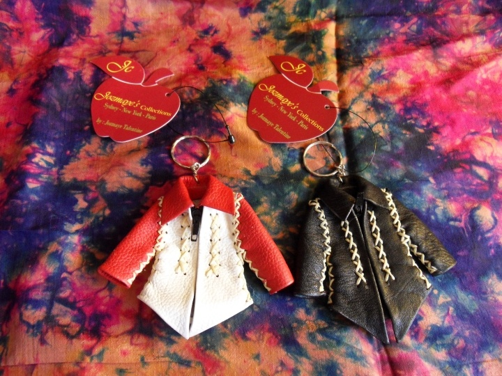 bike leather jacket keyring..paypal only; email first with enquiry to jozmayefashion@gmail.com