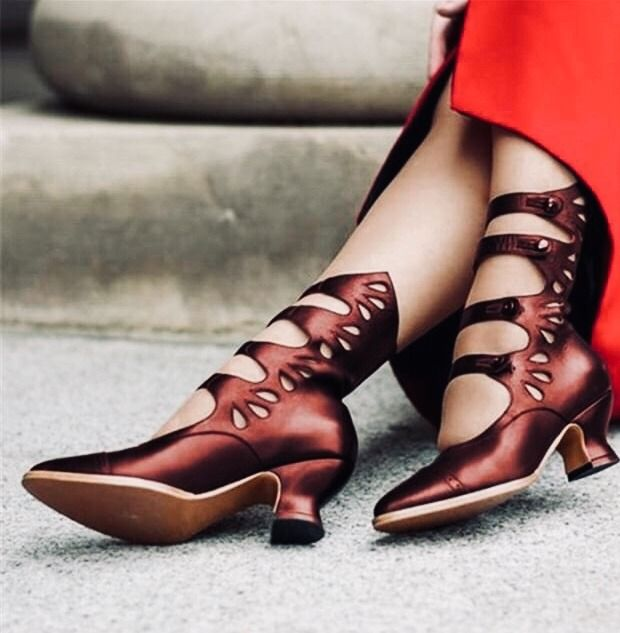 Details about  /Women/'s Patent Leather zip round Toe Block low Heel High mid calf Boots shoes
