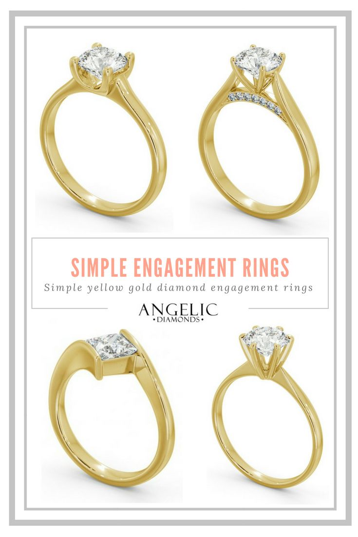 Simple engagement rings with a free design service for your personal customisations from#AngelicDiamonds. Find your perfect diamond engagement ring today.#Wedding#Engagement#Engaged#Diamond#Diamonds#Ring#Jewellery#Jewelry#DiamondRing#DiamondJewellery#DiamondJewelry#EngagementRing#GoldRing#GoldJewellery #YellowGold