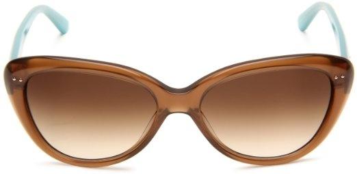 Amazon.com: Kate Spade Womens ANGELIQS Cat Eye Sunglasses,Black & Cream Frame/Gray Gradient Lens,  unfortunately not a reader.  55-16-135