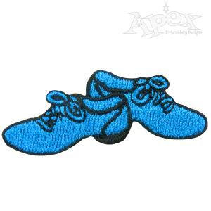 "Elvis Blue Suede Shoes Embroidery Design. Size: 2.06"" .87"""