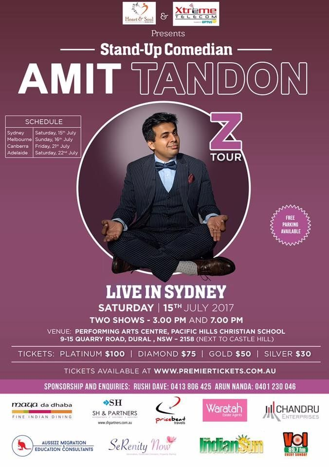 Indian Events in Australia - Organised by Heart & Soul Productions - at Performing Arts Centre, Pacific Hills Christian School 9-15 Quarry Road, Dural  2158  - Jul,15, 2017