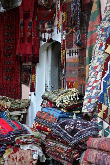 Textiles - The Grand Bazaar - Istanbul, Turkey