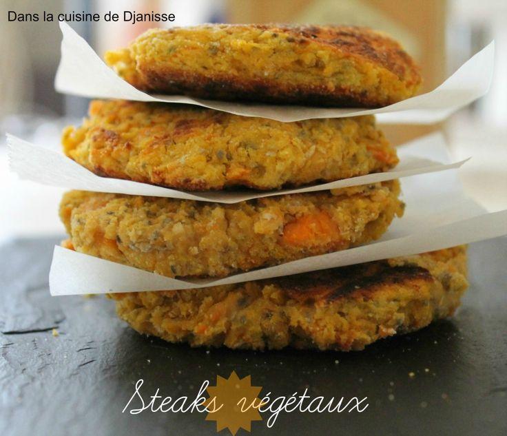 Steaks végétaux patate douce haricots blancs