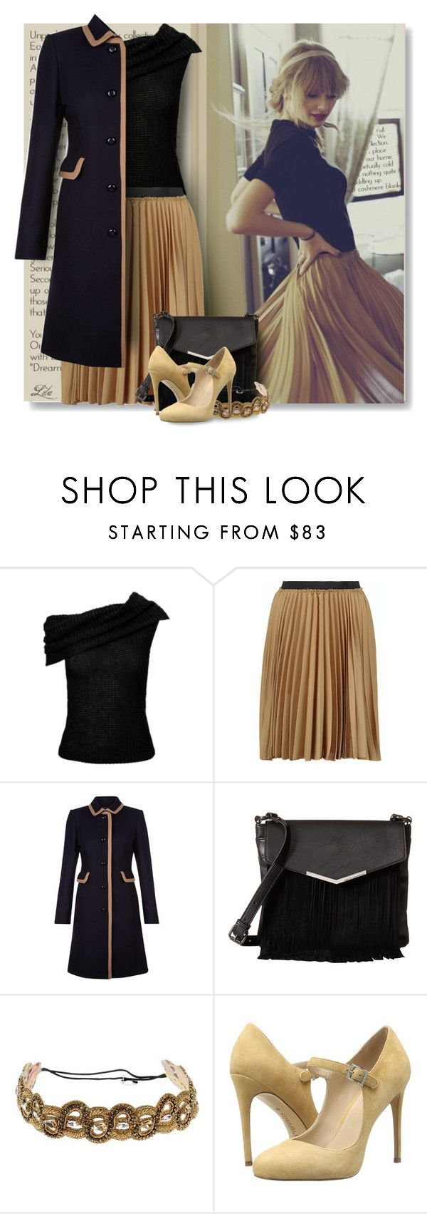 """""""Sweet Mini Handbags"""" by breathing-style ❤ liked on Polyvore featuring Roland Mouret, Enza Costa, Hobbs, French Connection, Deepa Gurnani and Charles by Charles David"""