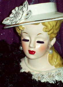 74 Best Lady Head Vases Images On Pinterest Vintage