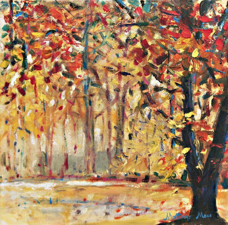 AUTUMN SPLENDOUR, oil on canvas by Matthys Moss.