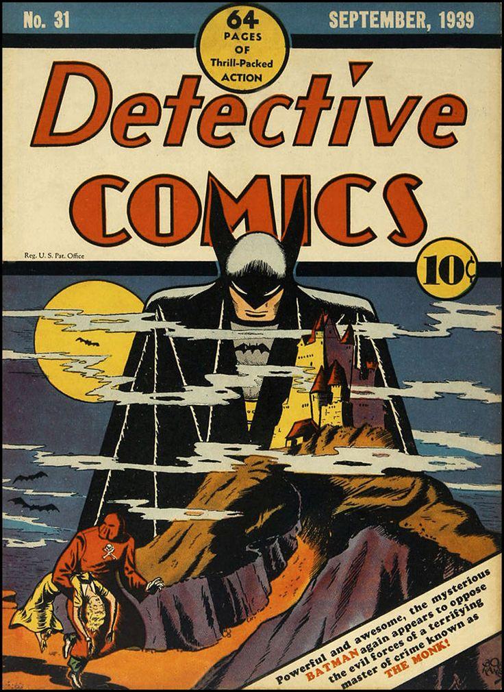 Bob Kane - Batman, Detective Comics... not his 1st appearance (#27) but still fantastic