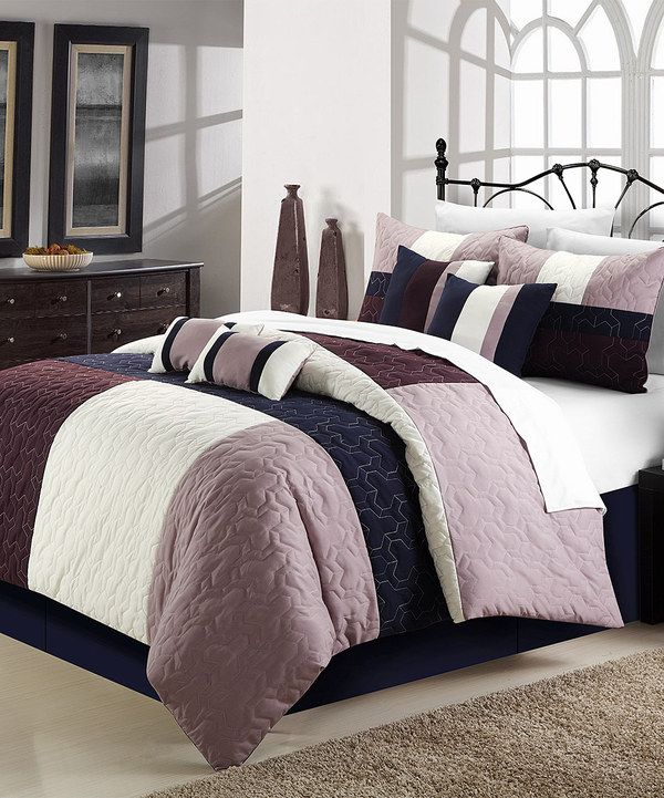 Plum Amp Gray Zinfandel Comforter Set Gray Look At And