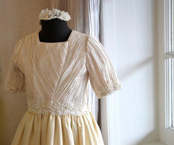 First Communion Dress, Communion Dress ~ Holy First Communion Dress ~ 1st Communion Dress ~ Couture Communion Dress ~ Flower Girl Dress / couturesbylaura.com