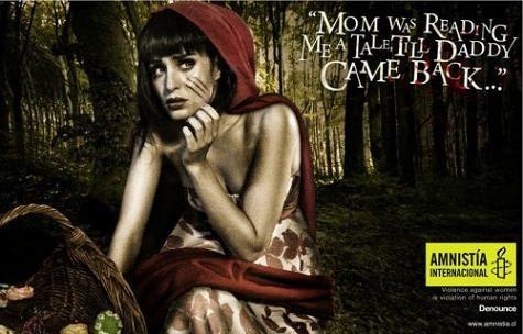 Amnesty International - Affiche contre les violences familiales au Chili