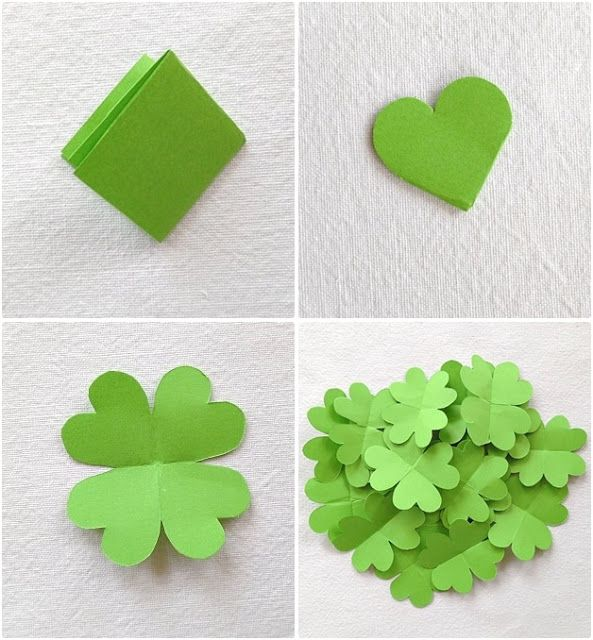 Cute and smart idea! Could be cool for making a card or for decorating a st paddy's day party