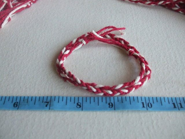 Bulk Braids, Red and White Braids, Cotton Braids. by TiStephani on Etsy