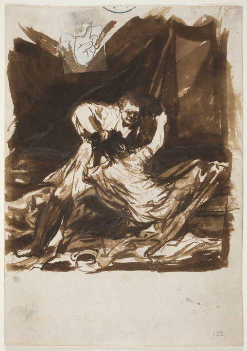 """"""": Lucha conyugal """"  by Francisco de Goya  Museo Nacional del Prado."""