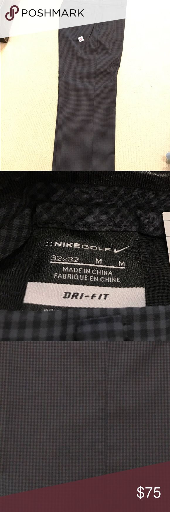 Mens Checkered Nike Golf Pants - Worn Once! great condition, professional look!! 32x 32 Nike Pants